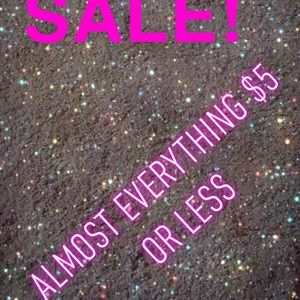 BIGGEST SALE! Almost everything $5!